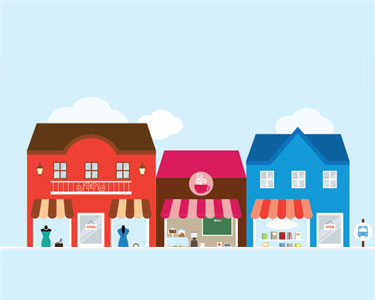 Main Street Sm Biz Illustration