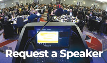 Photo of a podium - Request a speaker